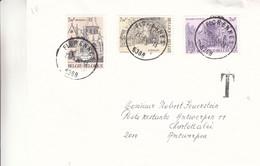 Belgique - Lettre Taxée De 1982 - Oblit Florennes - églises - Cachet Taxée à Antwerpen - Lettres & Documents