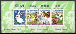Korea North 1999 Corea / Year Of The Rabbit MNH Año Nuevo Del Conejo / Hu05  4-9 - Chinese New Year