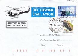 Belgique - Lettre De 1992 - Oblit Arlon - Courrier Spécial Par Hélicoptère - - Cartas