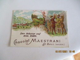 Chocolat Maestrani Saint Gall Suisse Chromo - Autres