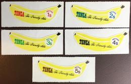 Tonga 1969 Banana Fruit Coil Set MNH - Frutta
