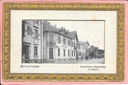 Schlettstadt (Selestat) - Ruprechtsau Hauptstrasse U. Postamt (encadrement Orné Et En Relief) - Selestat
