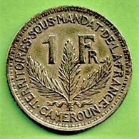 CAMEROUN SOUS MANDAT DE LA FRANCE / 1 FRANC / 1924 / - Camerun