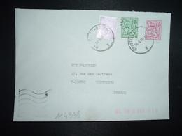 LETTRE Pour La FRANCE TP 7F + TP 5F + TP 1F OBL.19 6 86 BRUXELLES - Lettres & Documents