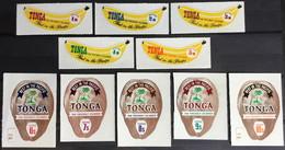 Tonga 1970 Banana & Coconuts Coil Fruit Set MNH - Frutta