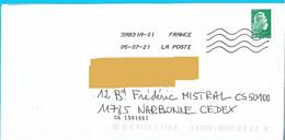 NOUVEAU Marque De Tri CS [50100] écrit Dans L'adresse Par L'expéditeur Marianne L'engagée Lettre Verte Toshiba - Mechanische Stempels (varia)