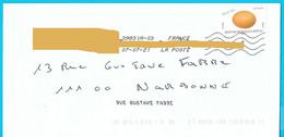 NOUVEAU Marque De Tri Rappel Numéro Et Nom De Rue Imprimé Par La Poste Timbre Oeuf Poule Rousse Toshiba - Mechanische Stempels (varia)