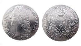 COPIE - Pièce Plaquée ARGENT ( SILVER Plated Coin ) - France - Louis XV Ecu Au Bandeau 1764 H - 1715-1774 Louis XV Le Bien-Aimé