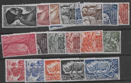 ⭐ AEF - YT N° 208 à 226 ** - Neuf Sans Charnière - 1947 ⭐ - Unused Stamps