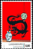 Timbre Privé** - Tintin / Kuifje / Tim  - Milou / Bobbie - Haddock - Le Lotus Bleu / De Blauwe Lotus / The Blue Lotus - Privé