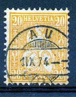 """HELVETIA - Mi Nr 24 -  """"AU"""" - (ref. 3421) - Gebruikt"""