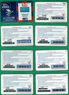 TIM - Lotto16 - 9 Diverse Usate Come Da Scan - GSM-Kaarten, Aanvulling & Voorafbetaald