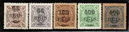 Moçambique, 1903, # 78/9, 84, 88/9, MH - Mosambik
