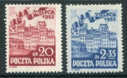 POLAND 1953 National Festival MNH / **.  Michel 809-10 - Nuovi
