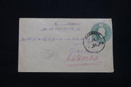 INDES ANGLAISES - Entier Postal De Rangoon Pour Colombo En 1903  - L 100945 - 1902-11 King Edward VII