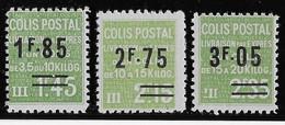 France Colis Postaux N°123/125 - Neuf * Avec Charnière - TB - Ungebraucht