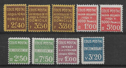 France Colis Postaux N°165/173 - Neuf * Avec Charnière - TB - Ungebraucht