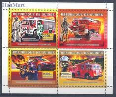 Guinea 2006 Mi 4441-4444 MNH  (LZS5 GURark4441-4444) - Brandweer