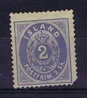 Iceland: 1873 Mi Nr 1A Not Used (*) SG Damage At Rigt Bottom Corner 1873 - Neufs