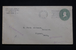 ETATS UNIS - Entier Postal Commercial De New York Pour  La Suisse En 1904 Par Le S/S Kaiser Wilhelm - L 100966 - 1901-20