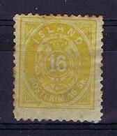 Iceland: 1873 Mi Nr 5A MH/*, Mit Falz, Avec Charnière  14*13,5 Perfo - Neufs
