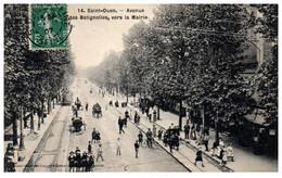 93 SAINT-OUEN - Avenue Des Batignolles Vers La Mairie - Saint Ouen