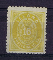 Iceland: 1873 Mi Nr 5B MH/*, Mit Falz, Avec Charnière 12.5perfo  Very Light Hinged - Unused Stamps