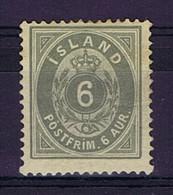 Iceland: 1876 Mi Nr  7A MH/*, Mit Falz, Avec Charnière 14 + 13.5 Perfo - Unused Stamps