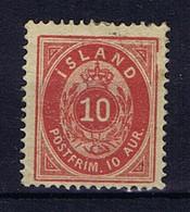 Iceland: 1876 Mi Nr  8A MH/*, Mit Falz, Avec Charnière 14 + 13.5 Perfo Small Thins - Neufs