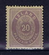 Iceland: 1876 Mi Nr  10 Aa MH/*, Mit Falz, Avec Charnière 14 + 13.5 Perfo Spot Unklarer Druck - Neufs