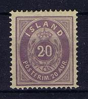 Iceland: 1876 Mi Nr  10 Ab MH/*, Mit Falz, Avec Charnière 14 + 13.5 Perfo Violet - Unused Stamps