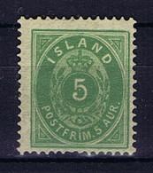 Iceland: 1882 Mi Nr 13 A MH/*, Mit Falz, Avec Charnière 14 + 13.5 Pefo - Neufs