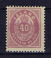 Iceland: 1882 Mi Nr 15 A MH/*, Mit Falz, Avec Charnière 14 + 13.5 Pefo - Neufs