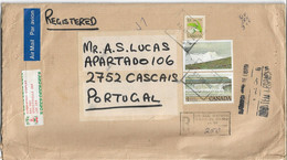 Canada 1981 Cover , Missisauga Ontario Postmark And Registration Stamp , Kluane , Fundy , Customs - Lettres & Documents