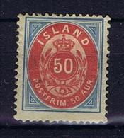 Iceland: 1892 Mi Nr 16 A MH/*, Mit Falz, Avec Charnière 12.75 Perfo - Neufs