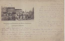 """FRANCE : ENTIER POSTAL . 10 Cts . TYPE SAGE . CP . OBL . REPIQUAGE . """" RELIGIEUSES DE CARIGNAN """" . 1900 . - Cartoline Postali E Su Commissione Privata TSC (ante 1995)"""