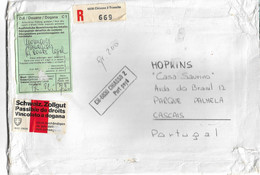 Switzerland ,  Chiasso , 1976 , Postage Paid Cover , Customs Labels , Registration Label - Covers & Documents