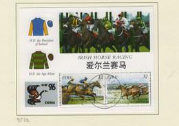 Irlande O N° Yv BF22; Mi HB63; SG 993a; China 96; Chevaux. - Gebraucht