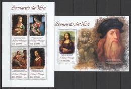 ST1756 2013 S. TOME E PRINCIPE ART PAINTINGS LEONARDO DA VINCI KB+BL MNH - Otros