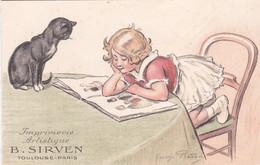Carte-double Publicitaire, Imprimerie Sirven, Toulouse-Paris, Illustration Georges Redon - Finlandia