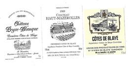 Lot De 12 étiquettes De   Premières  Côtes De Blaye   Neuves - Bordeaux