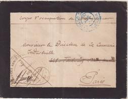 """MADAGASCAR : EN FM . """" CORPS D'OCCUPATION DE DIEGO - SUAREZ """" . 1903 . - Covers & Documents"""