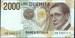 ♛ ITALY - ITALIA - 2.000 Lire 03.10.1990 {Guglielmo Marconi} {sign. Ciampi & Speziali} UNC P.115 - 2000 Lire