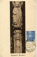 65381 Spain, Maximum 1943 Apostol Jacobeo Postmark Santiago Compostela  30 Dic. 1943 - Tarjetas Máxima