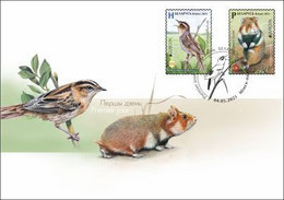 Belarus 2021 Europa Aquatic Warbler Hamster Fauna Bird Mammal FDC - Bielorrusia