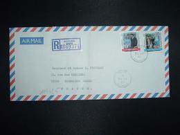 LR Par Avion Pour La FRANCE TP PRINCE ANDREW MISS SARAH FERGUSSON R3 + R10 OBL. OC 23 86 VICTORIA - Seychelles (1976-...)