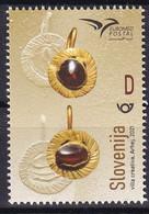 SLOVENIA 2021,NEW 12.07,EUROMED POSTAL - Hand-made Jewellery Of The Mediterranean,MNH - Slovenia