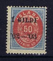 Iceland: 1902 Mi Nr 33 A   MH/*, Mit Falz, Avec Charnière - Neufs