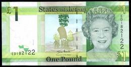 ♛ JERSEY - 1 Pound Nd.(2010) {sign: Ian Black} UNC P.32 A - Jersey