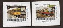 M04] BRD - Privatpost - Biberpost - 2 W Tram Eisenbahn Train - S-Bahn / U-Bahn Berlin - Privé- & Lokale Post